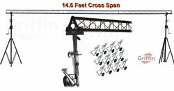 Crank Up Triangle Truss Light Stand – DJ Booth Lighting Trussing Stage Mount PA $448.95