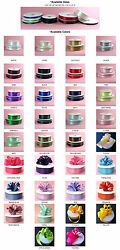 DOUBLE FACED SATIN Ribbon 50 100yards Roll 8 sizes 34 colors 100% polyester $3.89