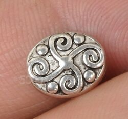 20Pcs Tibetan Silver Charm oval beads bead jewelry finding 10MM A3264