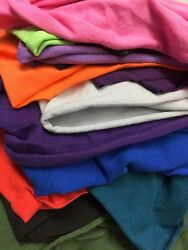 10 OZ Cotton Jersey Spandex Knit Fabric 29 colors available $6.95