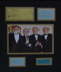 LucasCoppolaSpielbergScorsese Signed Autographed Matted Display PSADNA#Z05064