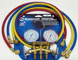 33661 Mastercool HVAC Air Conditioning Refrigeration Manifold Gauges w 60