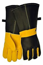 Barbecue & Fireplace Premium Top Grain Leather Gloves w 14.5