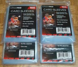 400 NEW SOFT PENNY ULTRA PRO BASEBALL CARD POLY SLEEVES fits 3X4 TOPLOADERS  $8.99