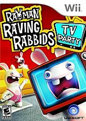 Rayman Raving Rabbids TV Party for Nintendo Wii WII Action Adventure Video $4.70