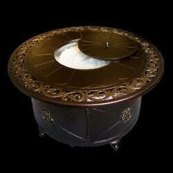 AZ Patio Heaters 48' Round Decorative Firepit in Bronze - F-1201-FPT