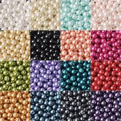 4681012mm  Round Czech Glass Pearl Loose Beads lot for Jewelry Making DIY
