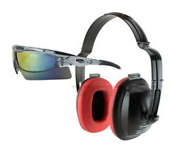 EARMUFFS & EYE PROTECTION HEARING EAR NOISE REDUCTION SHOOTING FIRING GUN RANGE