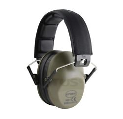 DRAB GREEN Shooting Range Earmuff Noise Reduction HIGHEST NRR LOW PROFILE 34 DB $15.99