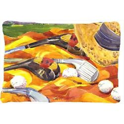 Golf Clubs Golfer Indoor & Outdoor Decorative Fabric Pillow 12 x 16 in.