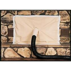Seal Glove Manufacturing Inc. 52X48 Fireplace Cover Off White Cotton Canvas 5...