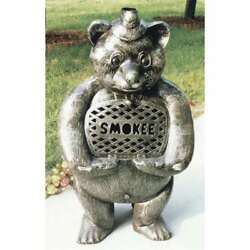 Oakland Living Smokee Bear Cast Aluminum Chimenea With Grill Pewter - 8028-AP