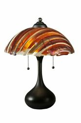 MEYDA TIFFANY MODERN MARINA FUSED STAINED GLASS NIGHT STAND END TABLE DESK LAMP