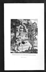 Woman Watering Can old William Hogarth 1798-1806 Engraving Art Print [InvHBD#93