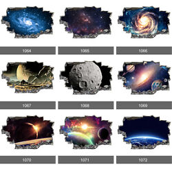 Space Galaxy Stars Planets Universe 3D Wall Mural Photo Wallpaper Wall Stickers GBP 6.99