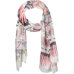 Kinross Cashmere Painted Ikat Scarf 2 Colors HatsGlovesScarve NEW