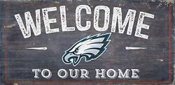 Philadelphia Eagles Welcome to our Home Wood Sign  NEW 12