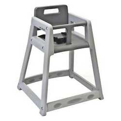 Plastic High Chair Gray Csl Foodservice And Hospitality 850DGY-KD