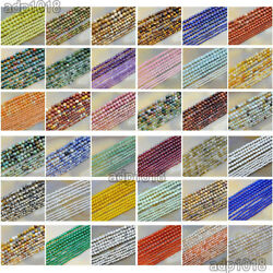 2mm 3mm 4mm Natural Gemstones Round Spacer small Beads 15.5#x27;#x27; Jewelry Design $3.58