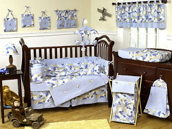 Luxury Blue Camo Army Cheap Baby Boy Crib Bedding Comforter Set Room Collection