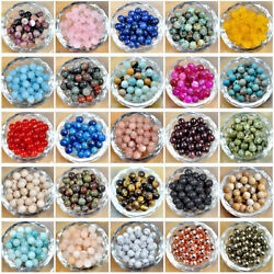 Natural Gemstone Round Spacer Loose Beads 4mm 6mm 8mm 10m 12mm $4.99