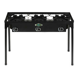 Stansport Outdoor Stove with Stand - 3 Burners