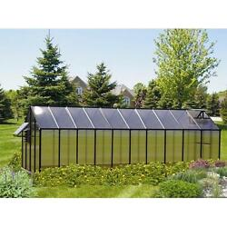 Riverstone Industries Monticello 8 x 20 Ft. Greenhouse Black Mojave