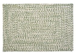Catalina Indoor Outdoor Rectangle Braided Rug Greenery ~ Made in USA