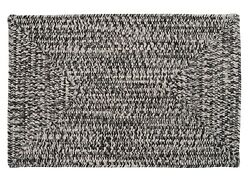 Catalina Indoor Outdoor Rectangle Braided Rug Blacktop ~ Made in USA