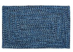 Catalina Indoor Outdoor Rectangle Braided Rug Blue Wave ~ Made in USA