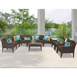 Miseno MANHATTAN-11a-COCOA NYC 11-Piece Outdoor Furniture Sets and Club Chairs
