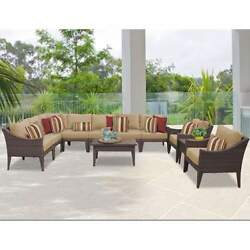 Miseno MANHATTAN-11a-WHEAT NYC 11-Piece Outdoor Furniture Sets and Club Chairs