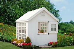 Little Cottage Colonial Gable Greenhouse Panelized Kit 10 x 14 ft.