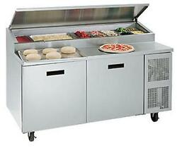 Randell 8268N-290-PCB 68in Wide Two Door Pizza Prep Table w Cutting Board