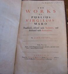 The Works of Publius Virgilius Maro. 1654 John Ogilby. Virgil. Francis Cleyn