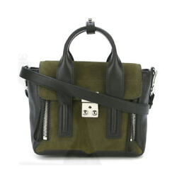 3.1 Phillip Lim 'Mini Pashli' Leather Satchel Dark Moss Green Sold Out Online