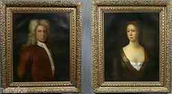 PAIR OF HISTORICAL SCOTTISH COUPLE PORTRAITS JAMES BALFOUR & WIFE LOUISA HAMLON