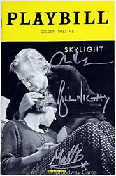 Bill Nighy Beard & Carey Mulligan Signed SKYLIGHT Opening Night Playbill