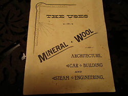 Antique Vtg 1920's Uses of Mineral Wool Booklet  ArchitectureBuildingSteam++