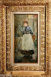 BERTHE MORISOT FULLY GUARANTEED OIL PAINTING GOOD PROVENANCE