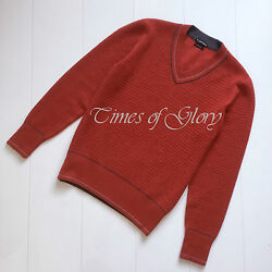 NEW Tom Ford Mens Red Cashmere Wool Knit V Neck Jumper Sweater Top Size IT48 M