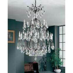 Classic Lighting Versailles Crystal Chandelier Antique Bronze - 9019ABS