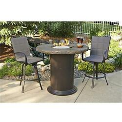 OutdoorGreatroom CM-48-PUB-K Colonial Pub Crystal Fire Pit Table
