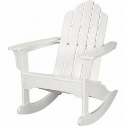 Hanover HVLNR10WH All-Weather Adirondack Rocking Chair White