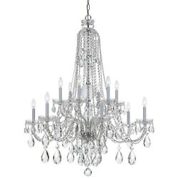 Crystorama Traditional Crystal Elements Crystal Chandelier - 1112-CH-CL-S