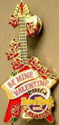 Hard Rock Hotel LAS VEGAS 2004 Valentine#x27;s Day PIN quot;BE MINEquot; Roses Guitar #21366 $9.99