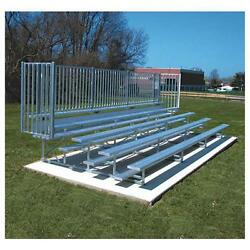 Jaypro Sports BLCH-521GRPC 5 Row 21 ft. with Guard Rail Powder Coated