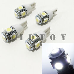 2 Pair T10 158 161 168 194 558 2825 2827 LED 5-SMD 5050 White #Ht3 Ash Tray Lamp