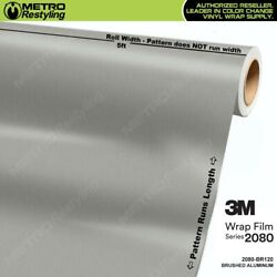 3M 1080 BR120 BRUSHED ALUMINUM Vinyl Vehicle Car Wrap Decal Film Sheet Roll