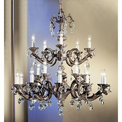 Classic Princeton II 20 Lt Chandelier Bronze Crystal Elements - 57220RBS